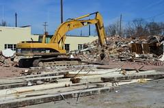 Demolition in Progress (pjpink) Tags: winter urban virginia demolition richmond northside february transforming shattered rubble deconstruction rva scattered 2015 flattening pjpink