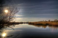 Almost like a dream: Sun over The River Guden (2) (Jim Skovrider) Tags: sky water nikon tokina danmark ultrawide hdr highdynamicrange randers photomatixpro guden randersfjord atx116prodx d5100 platinumpeaceaward theriverguden nikond5100 r3vkzw7l 1116f28lens