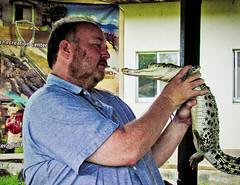 Talking To The Crocodiles (Exciting Cebu -- Rusty Ferguson) Tags: philippines rusty palawan crocodilefarm livingincebu cebuexperience