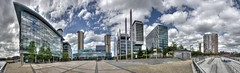 2016.07.03 - Media City Panorama - Salford Quays (D.R.Williams) Tags: salford salfordquays manchester hdr sky modernarchitecture panorama bbc media city