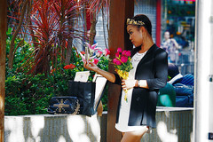 Yaumatei Filipino dressed up (Edvard Tam) Tags: hongkong street streetphotography yaumatei girl lady costume ethnicity ethnicwear traditionalcostume traditionaldress asianfemale asian asiangirl asianwoman asianlady female