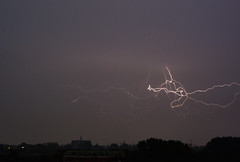 Lightning 23-06-2016 (renegesink) Tags: sky netherlands weather skyline night clouds extreme bolt thunderstorm lightning lucht alkmaar weer onweer bliksem
