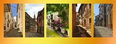Alleys in Buje Istri / Steegjes Buje Istri (jo.misere) Tags: collage buje istri steegjes alleys