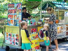 Summertime (Mildred Alpern) Tags: summer icecream boys woman seller