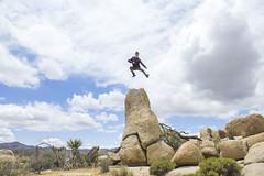 Matt karate Jump (dominate15) Tags: findyourpark nationalparks explore travel outdoors hiking outside climb joshuatree jump jumping jtree flickrheroes