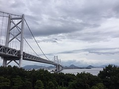 Crossing (Jean I Cresol) Tags: road bridge sea japan way view july across 13th suspensionbridge 2016 setosea