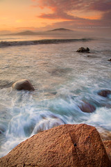 Coastal Flow || PORT STEPHENS || NSW (rhyspope) Tags: new sunset mist pope color colour beach nature weather fog wales port sunrise canon flow bay coast marine waves south australia nelson coastal nsw 5d ripples aussie stephens rhys mkii shoal rhyspope