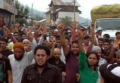 Kashmir : Supporters of the Anjumans Islamia raising slogans during a bandh to mark solidarity with Kashmir ,in Bhaderwah on Friday. (legend_news) Tags: bhaderwah jammuandkashmir india kashmirsupportersoftheanjumansislamiaraisingslogansduringabandhtomarksolidaritywithkashmir inbhaderwahonfriday