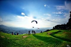 (Clonedbird  & Iris ) Tags:         paragliding fisheye sport nantou puli nikon d810 16mmf28