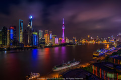 Magic City () Tags: copyright20132016suifengallrightsreserved china shanghai huangpuriver landscape lujiazui d800 nikon night 20mm