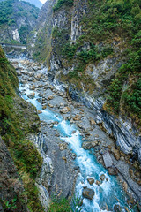 Taiwan-121116-482 (Kelly Cheng) Tags: travel blue color colour green tourism nature water vertical landscape daylight colorful asia stream day outdoor taiwan nobody nopeople gorge colourful tarokonationalpark tarokogorge  traveldestinations  northeastasia