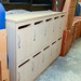 Personal lockers wooden
