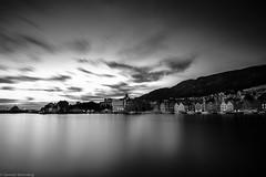 Bergen sunset in b&w (Steinskog) Tags: bergen norway bryggen sunset summer clouds longexposure filter leefilter bigstopper blackandwhite monochrome fujifilm xpro2 acros