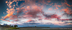 Sharky's Pier (DonMiller_ToGo) Tags: morning cloudporn sharkys nature goldenhour outdoors d5500 panorama sky clouds florida
