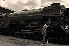 Bringing back memories of old (OLLIEINLEEDS) Tags: flying scotsman 60103 sir nigel gresley shildon shed bash steam nrm national railway museum memories reunion legacy
