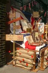 Say No to war (mistigree) Tags: londres portobello portobellomarket nottinghill guerre brocante