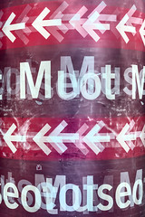 Meot (pni) Tags: text multiexposure multipleexposure tripleexposure sign typography letter arrow helsinki helsingfors finland suomi pekkanikrus skrubu pni