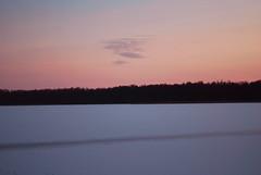 sunset over frozen lake (altrobella) Tags: winter lake frozenlake masuria snow sunset forest sky