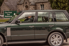 The Queen on route to Crathie Church (sammys gallery) Tags: queen queenelizabeth crathie scotland balmoral