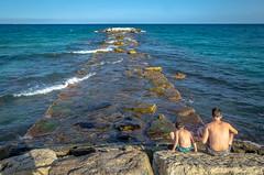 sur la jete (Patrice Dx) Tags: espagne costabianca provincedealicante mditerrane vacances preetfils enfant rverie horizon bleu