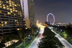Singapore Flyer (RomeoJunior) Tags: singaporeflyer singapore longexposure nightphotography night shot nightimages marinabaysands travel nikon nikond90 tokina