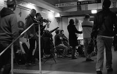 Playing in the metro (Amelien (Fr)) Tags: 147 11 2016 400 400tx 50f11 50mm amk analog argentique believeinfilm capturedonrealfilm dilutione epson film hc110 kodak leica mp msoptical pellicule sonnetar trix blackandwhite bw filmisnotdead homescanned monochrome nb noiretblanc rangefinder telemetrique v550