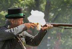 Blast from the Past (a56jewell) Tags: a56jewell backusmills warof1812 war fight september summer gun gunfire musket blast