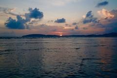 Drifting away (Vivi Black) Tags: waves ocean water life thailand reflection earth beauty sunset