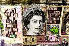 Queen (Bob the Binman) Tags: nikon d7100 graffiti london waterloo lambeth grime urban hccc leakestreet padst www londonist