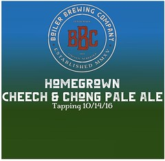 Tomorrow. Tap room's open 4-12. 129 North 10th Street, Suite 8- under The Blue Orchid. #boilerbrewingcompany #craftbeer #lincolnnebraskabeer #taproom #homegrowncheechandchong (Boiler Brewing Company) Tags: instagram boiler brewing company
