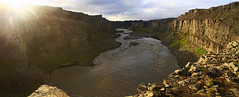Dettifoss Gorge (Matt Champlin) Tags: tgif friday life gorge glen amazing rugged iceland waterfall water huge incredible canon 2016 travel summer exotic dettifoss river sunset