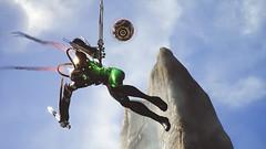 Acrobat Killer (polyneutron) Tags: unrealengine paragon moba character kallari assassin melee cybernetic cyborg acrobatics jump attack sky