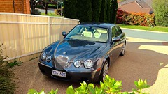 Jaguar S Type (Exrone) Tags: city hills valley lanyon jag sports luxury bush canberra 10 m eos canon tree green car automotive australia grey v6 stype jaguar