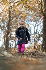 Ombeline (Floriiinephotography) Tags: autumn leaves october littlegirl