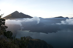 View of the summit (Maarten Roggeman) Tags: indonesia lombok mt rinjani trek mount gunung volcano summit crater lake segara anak or laut child sea barujari