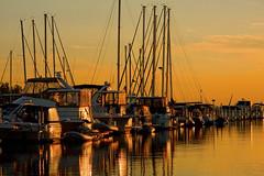 Michigan City Harbor at Sunset 9-12-2016 8603 (www.cemillerphotography.com) Tags: lakefront lakemichigan sundown dusk nightfall washingtonpark recreation megawatt energy emissions indiana factory smokestack smoke