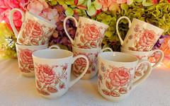 Johnson Brothers Mugs ~ Rose Chintz ~ Pink (Donna's Collectables) Tags: johnson brothers mugs ~ rose chintz pink thanksgiving christmas
