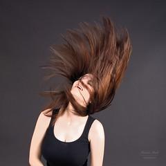 Young girl swinging hair (alexander.dischoe) Tags: hair haare art studio shooting girl woman lady portrait porträt top nikon nikond7100 nikon18200mm nikkor18200mm d7100 dslr dx