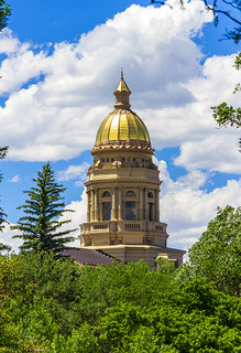 The Golden Dome of the Wyoming Capitol