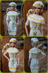 """Dress and beret for Fashion Royalty, Poppy Parker, FR2, dolls 12"""".For sale on eBay (electraere) Tags: dress beret fashionroyalty poppyparker fr2 dolls12"""