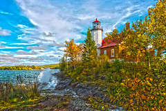 Standing Tall [HDR] (eahackne) Tags: hdr scott5 upperpeninsula keweenawpeninsula lighthouse eagleharbor fall autumn colors