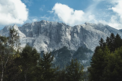 Waxenstein (thomasrichterphotography) Tags: trees landscape lake mountains water nature travel outdoor tree view alone traveling mountain outdoors adventure exploring scenic nopeople explore wanderlust zugspitze eibsee waxenstein