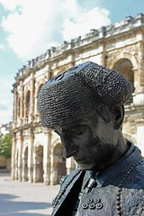Bullfighter at Nimes (big_jeff_leo) Tags: nimes france roman temple arena building stone ancient architecture city facade fountain french empire old pilar column