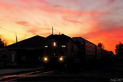 Northbound UP Auto Train at Dexter, MO (Mo-Pump) Tags: railroad train locomotive railfan railroader