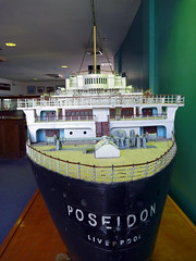 Poseidon stern (PhillMono) Tags: ocean fiction museum paul lumix boat los model ship angeles mary vessel queen panasonic adventure maritime hollywood novel stern poseidon liner gallico