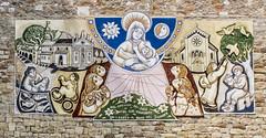 wallpainting in the Dolomites of Italy (Pieter Mooij) Tags: italy italia wallpainting italie dolomites dolomiti muurschildering religie dolomieten religieus fujix20