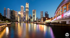 Singapore River (kenneth chin) Tags: china city buildings river lights 1 boat yahoo google nikon singapore asia place bank quay nikkor raffles ocbc uob maybank capitaland 1424 elginbridge d810