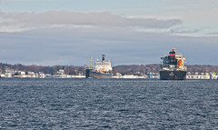 Ships Passing (cjh44) Tags: newyork clayton ships tanker freighter stlawrenceriver seaway