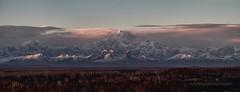 Pensive (Ed Boudreau) Tags: alaska clouds sunrise landscape panoramic talkeetna denali mtmckinley denalirange moutainvista