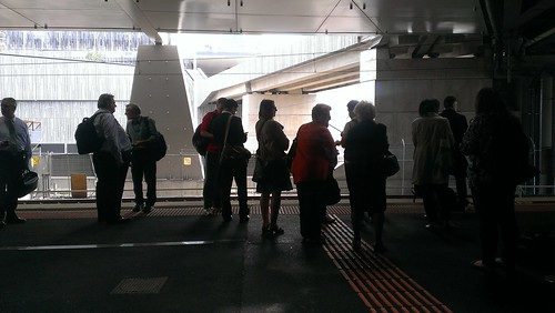 Waiting for the train at Southern Cross